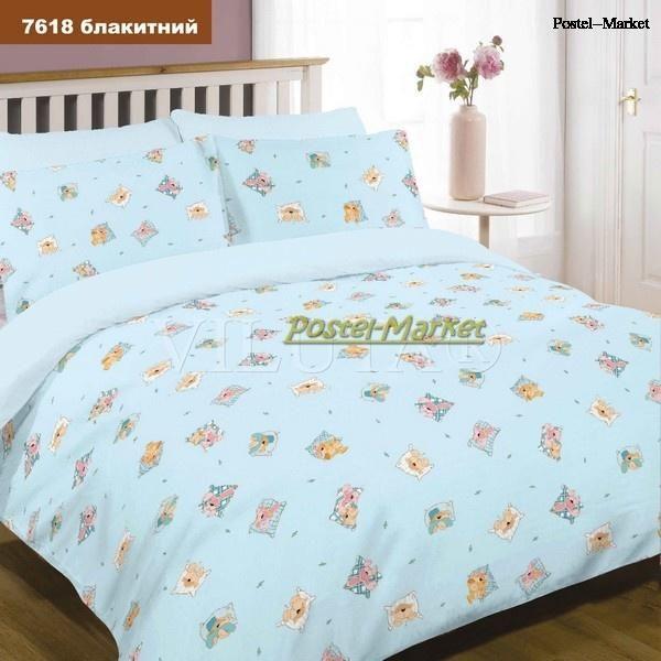 Детское постельное белье 7618 голубое купить в Постель Маркет (Киев)