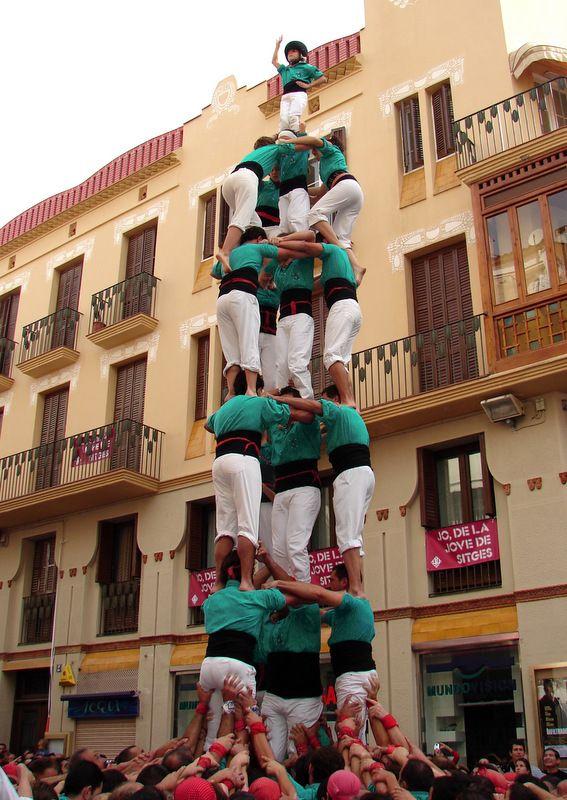 Castillo  humano en Vilafranca