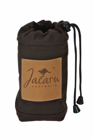 5063 Oiled Cotton Drink Bottle Cooler by Jacaru. Leather Branding Patch with your Logo.