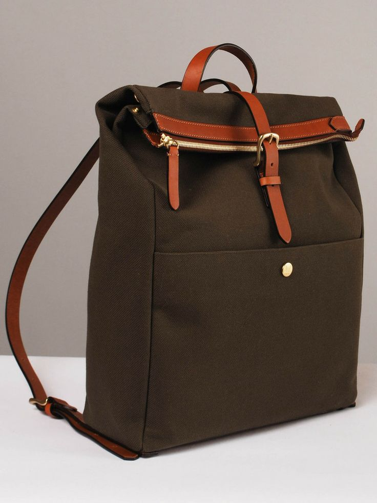 Frances May - Mismo Express Backpack in Army/Cuoio