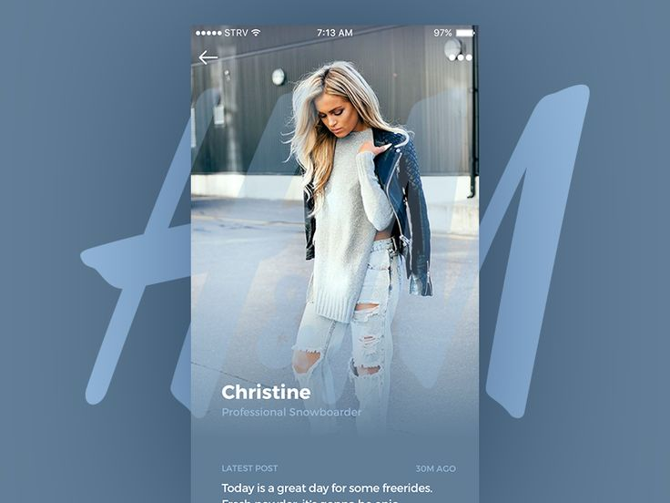 iOS Take 03 Featuring H&M - Profile page concept for branded fashion stories by Marian Fusek