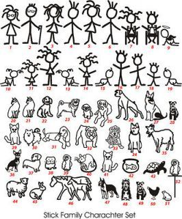 Best Stick People Images On Pinterest Brown Bears Stick - Family car sticker decalsbest silhouette for the car images on pinterest family car