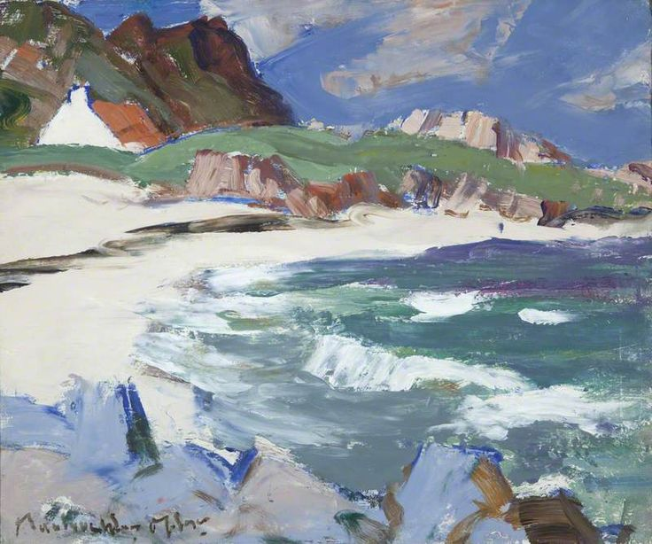 Seascape, Iona by John Maclauchlan Milne (Scottish 1886-1957)