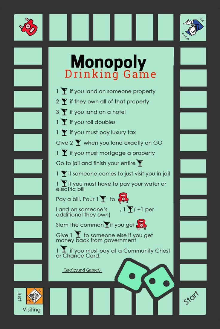 If Monopoly was not fun enough wait for Monopoly Drinking Game Rules! Here are 5 Monopoly Drinking Boards including Beer-Opoly, Wine-Opoly