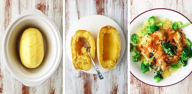 Spaghetti Squash Thai-Inspired Noodle Bowl | 15 Slow Cooker Recipes That Are Actually Healthy