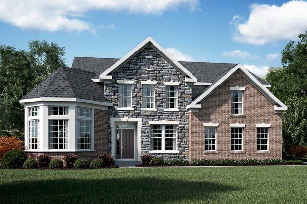 Fischer homes keller model exterior collections for Fischer homes floor plans