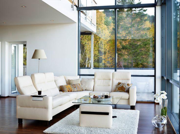 stressless duo tisch mit duo hocker praktisch und flexibel mit der ausziehbaren holzplatte. Black Bedroom Furniture Sets. Home Design Ideas