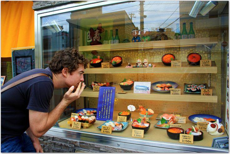 sushi street, otaru, hokkaido