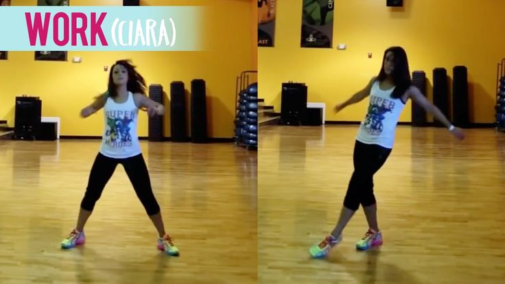"""We usually do this dance fitness routine as a warm up in my Dance Fitness with Jessica class, but here's another one to Ciara's """"Work"""" featuring Missy Elliot..."""