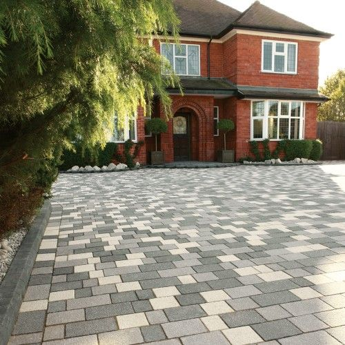 StoneFlair by Bradstone, Panache Block Paving Midnight Grey Textured Mixed Sizes - 10.20 m2 Per Pack