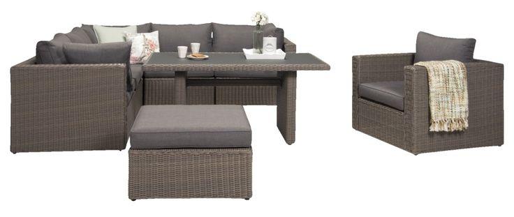 Combineer de meubelen uit de Pescara serie  om deze loungeset te creëren of mix en match met de tuinmeubelen uit de andere Le Sud series. Welkom Buiten.
