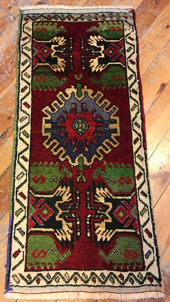 vintage mat hand made  small mats  floor mat by Isdarhali on Etsy