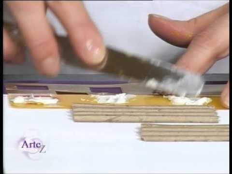 ▶ Cómo crear un cuadro abstracto con técnica mixta de alto contraste - YouTube
