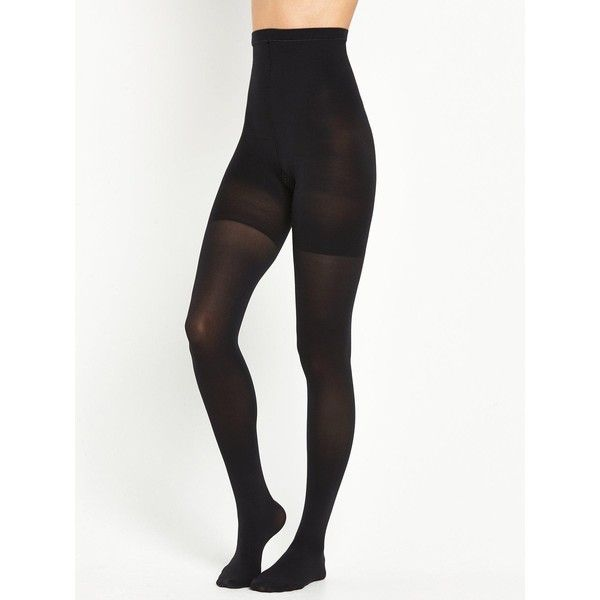 Spanx High-Waisted Luxe Leg Tights ($50) ❤ liked on Polyvore featuring intimates, spanx, slimming slip and spanx slip