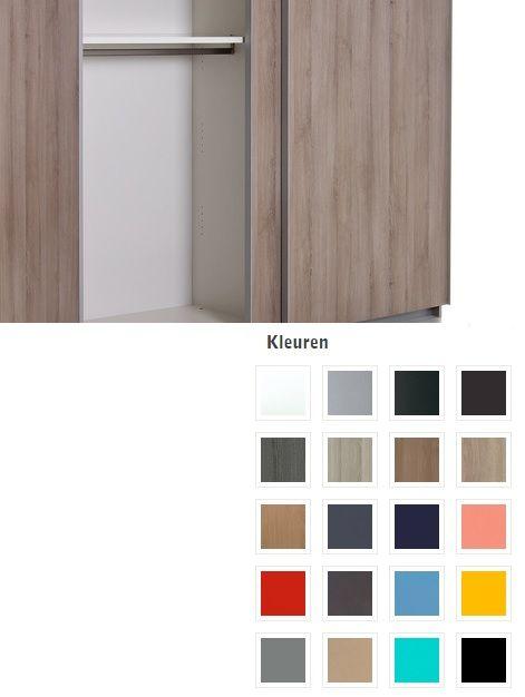 Zweefdeurkast kleuren Impact Vroomshoop