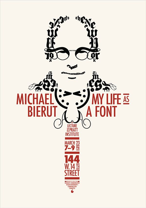 Michael Bierut Lecture Poster on Behance