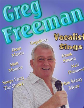 Greg Freeman Singer available on The Costa Blanca