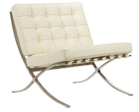 Это кресло так и приглашает сделать паузу, выпить чашку ароматного чая или почитать любую книгу. Оно очень уютное и имеет эргономичный дизайн. Кресло выполнено из натуральной кожи кремового цвета, поэтому оно смотрится достаточно нейтрально и удачно вписывается почти в любой интерьер. Кресло имеет удобную мягкую спинку и сиденье, а также оно устойчивое, благодаря стальным ножкам и прочному каркасу.             Метки: Кресла для дома.              Материал: Металл, Кожа натуральная…