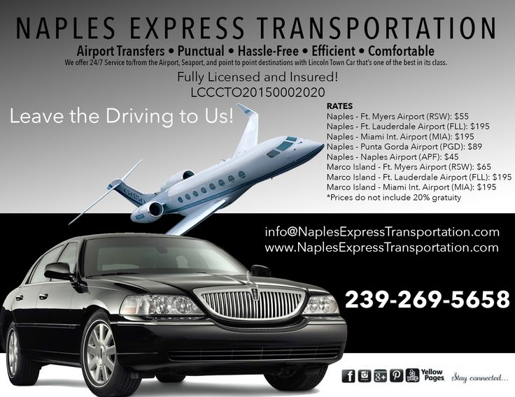Pin by Naples Express Transportation on Naples Express