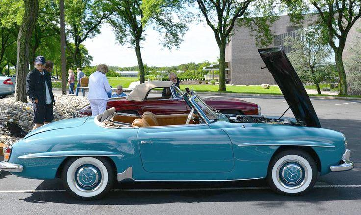 1956 Mercedes #190SL at the 2013 June Jamboree in Montvale, NJ. Source: http://www.classiccarstodayonline.com/2013/06/18/6405. For all your Mercedes Benz #190SL restoration needs please visit us at http://www.bruceadams190sl.com. #BruceAdams190SL.