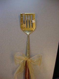 golden spatula award for good lunch room behavior... We once did a