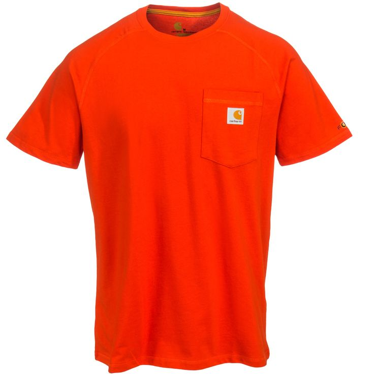 Carhartt Clothing Men's 100410 642 Electric Red Force Delmont Short-Sleeve Work T-Shirt
