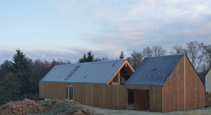 RVL architectes - Grange contemporaine - Accès sur cour