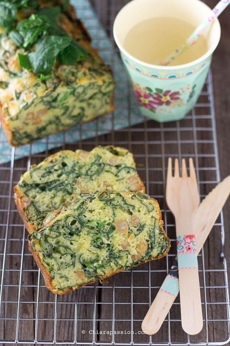 Plumcake con spinaci e ceci – Chiarapassion