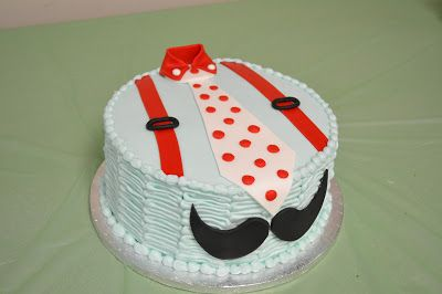Mustache themed baby shower! How adorable is this cake??