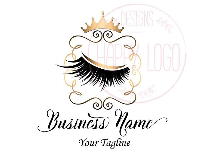 18f288f5b9581 DIGITAL Custom logo design , lashes logo, lashes beauty logo, makeup ...