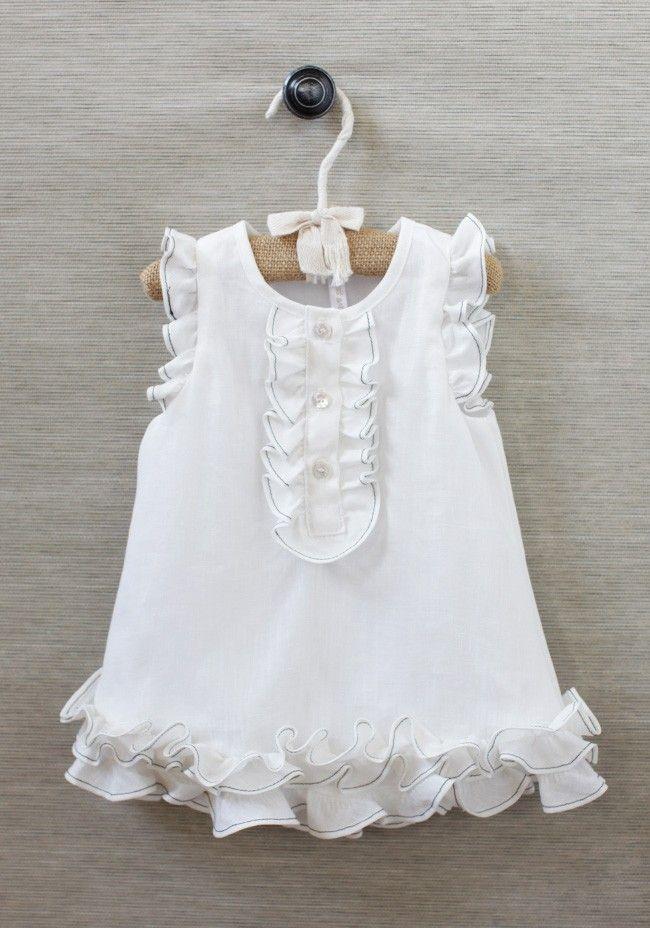 Maria Organic Ruffled Dress | Modern Vintage Children