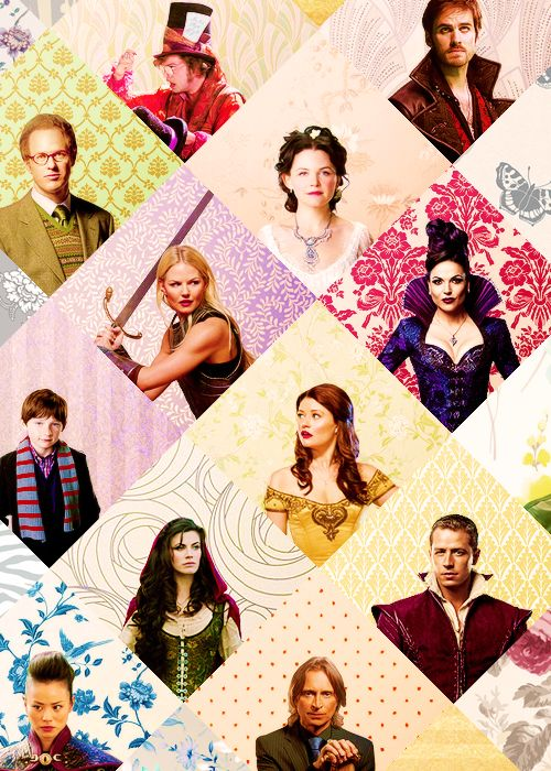 :) all my favorite characters if you include Jefferson/Mad Hatter somewhere with Ruby, Hook, and Regina.