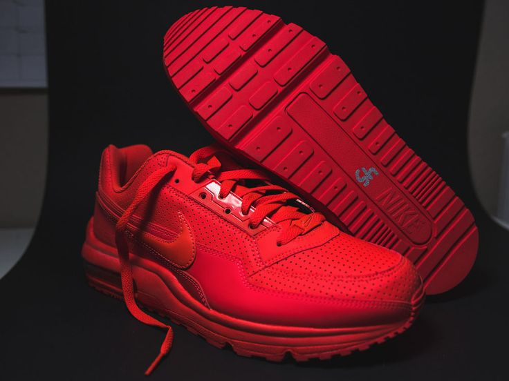 hot sale online 123a5 113dc ... MENS Nike Air Max Ltd 3 Mens 687977-666 Bright Crimson Red Running  Shoes Size ...