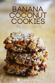 Banana Coconut Cookies | grain free, gluten free, dairy free, egg free, refined sugar free, GAPS, paleo | healthy recipe ideas /xhealthyrecipex/ |