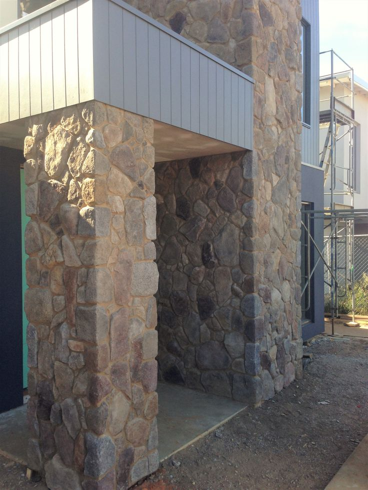 Scyon Axon and feature stone cladding - home under construction in Torquay.