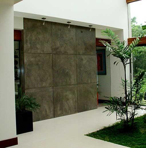 Oltre 1000 idee su revestimientos para exteriores su for Decoracion de paredes exteriores patios
