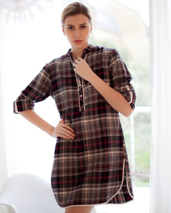 Strike a Pose Brushed Check Nightshirt now in the sale £19.00