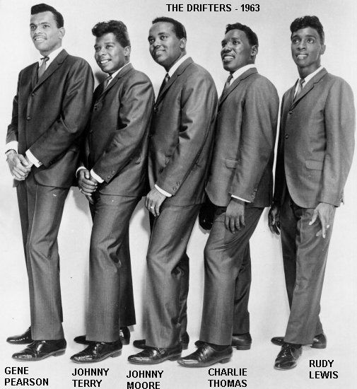 Rudy Lewis, right, lead singer for many of the groups well remembered hits, was born today 8-23 in 1936. On Broadway and Up on the Roof - hits of the early 60s featured his lead vocals.