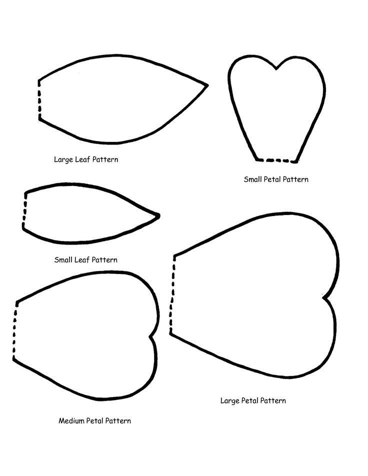 25 best ideas about flower petal template on pinterest for Rose petal templates free