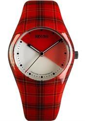 Cute red plaid watch