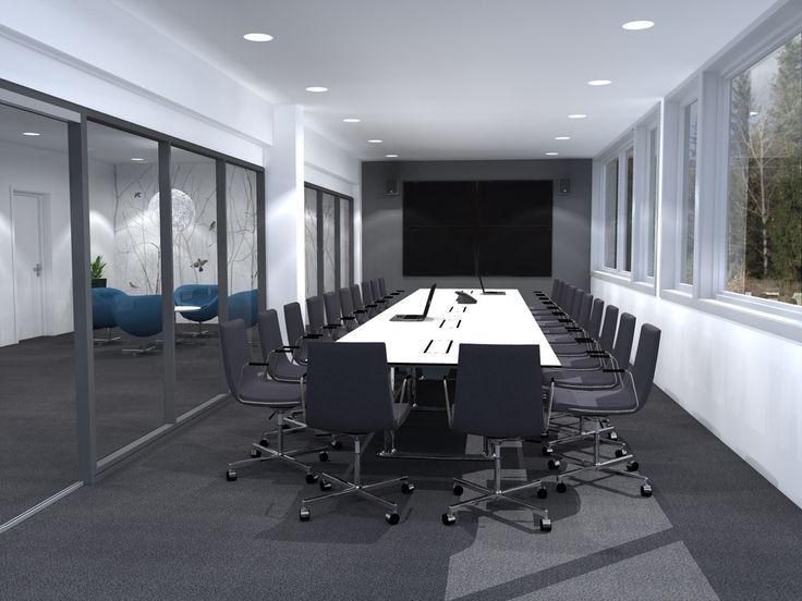 Fora Form Colonnade konferansebord 552x138 lys grå - Kjellmann.no