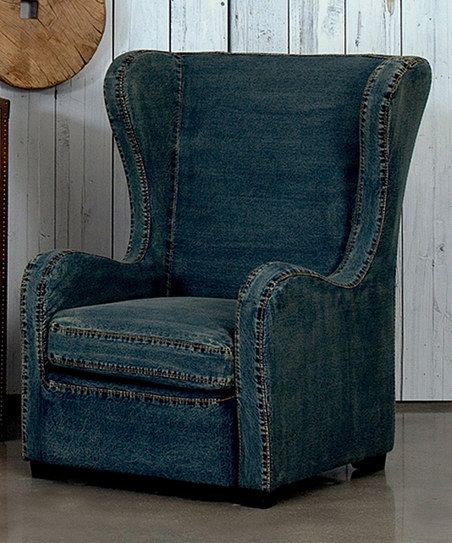Denim Levittown Wingback Chair | Denim furniture, Black ...