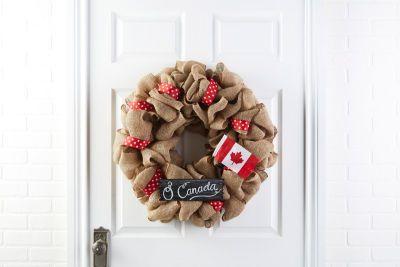 Celebrate Canada Burlap Wreath