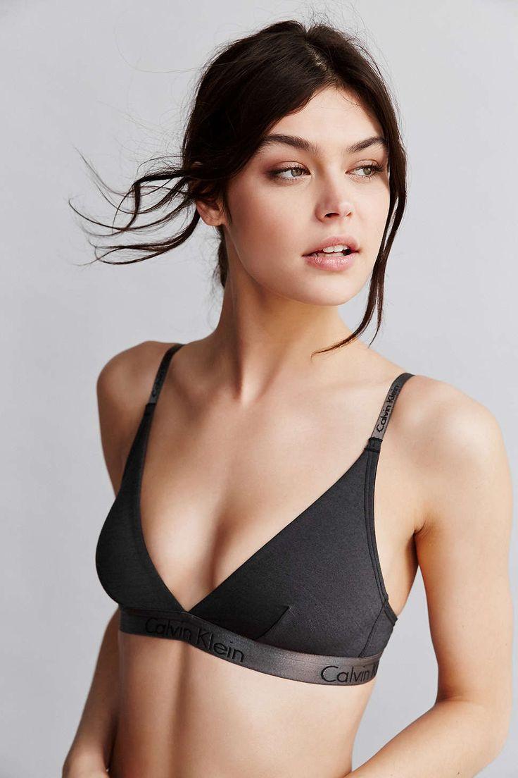 Calvin Klein Dual Tone Triangle Bra - Urban Outfitters