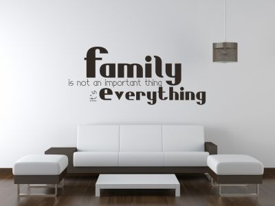 Family is not an important thing...it's everything.  All our wall stickers/decals are available in a great range of sizes and colours - and can be personalised to be truly custom.