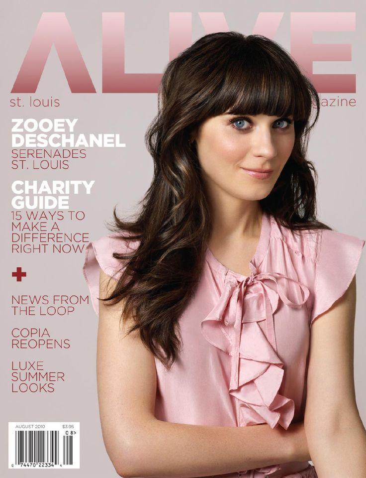 ALIVE Magazine August 2010  The August Issue of ALIVE Magazine, featuring Zooey Deschanel