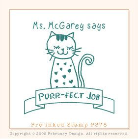 Kitty Cat Stamp (Pre-inked Stamp) Teacher Stamp, Reward Stamp, Compliments, Library Stamp, Classroom, School Supplies, Name Stamp (P378) by FebruaryDesign on Etsy https://www.etsy.com/listing/196760010/kitty-cat-stamp-pre-inked-stamp-teacher