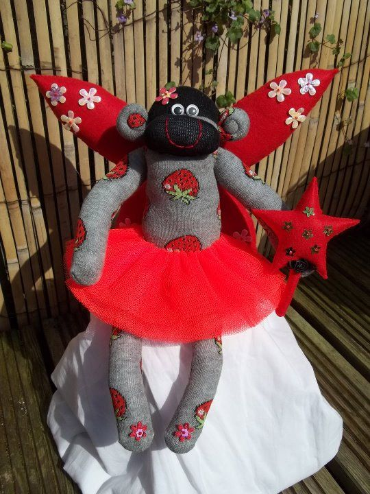 fairy sock monkey