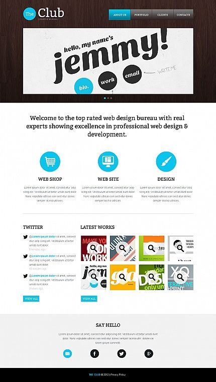 The Club Moto CMS HTML Templates by Ares