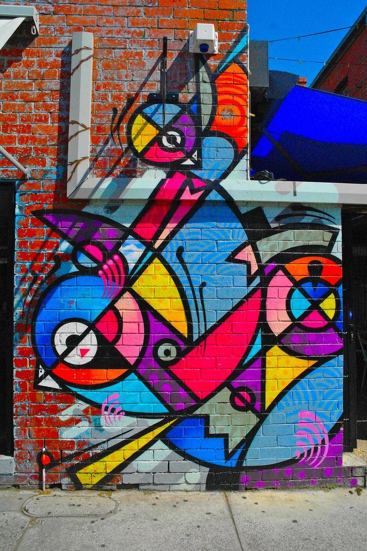 Graffiti art ideas - Abstract Birds Graffiti Streetart More